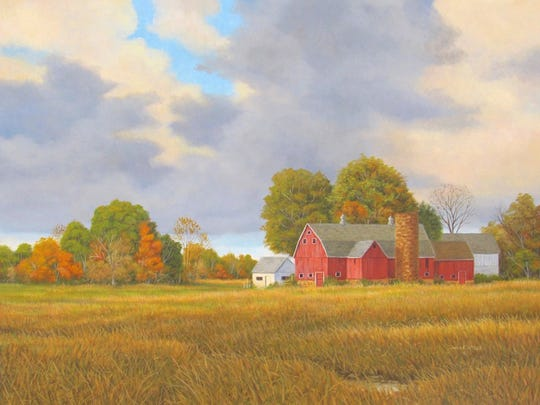 """Pasture Light,"" oil painting by John McGee, one of the new artists this season at Fine Line Designs Gallery."