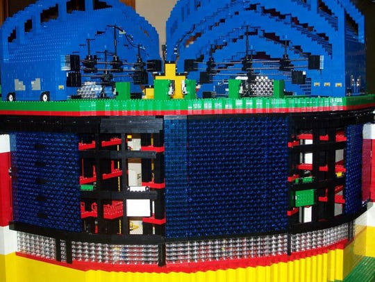 The outfield panels and roof on Tim Kaebisch's LEGO