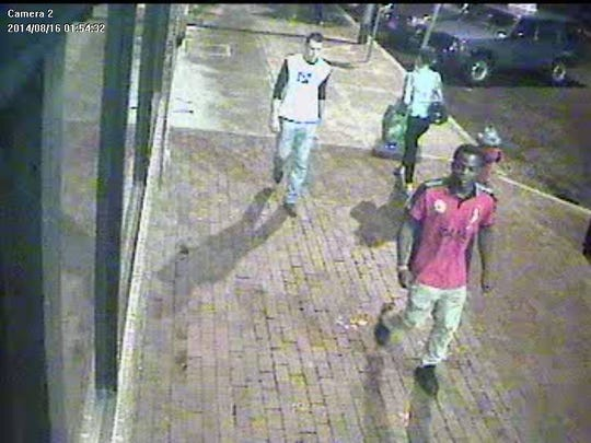 "Burlington police are searching for two men they believe have knowledge of a ""suspicious event"" that happened on Main Street in Burlington early Saturday morning, leaving one man seriously injured."