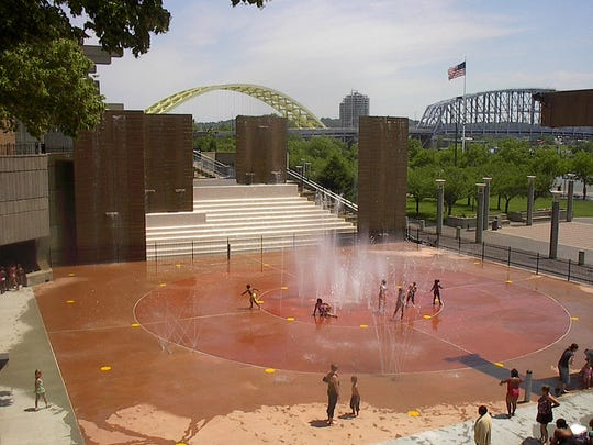 On the north side of Yeatman's Cove, the Armleder Sprayground offers water jets in a large basin.