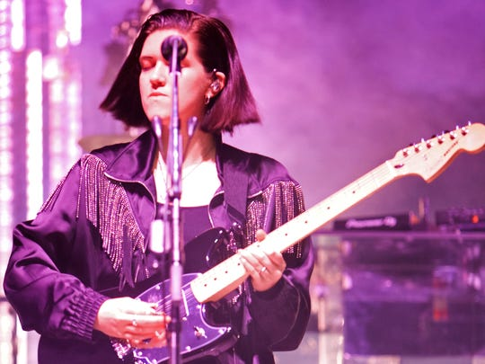 Roy Madley Croft of the The XX performs during the