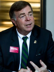 Huntsville Mayor Tommy Battle, shown in Montgomery, Ala., on Wednesday, April 11, 2018, is running to be Governor of Alabama.