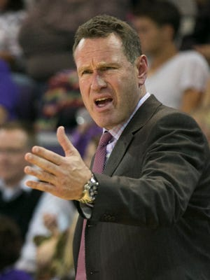 GCU coach Dan Majerle starred at Central Michigan before beginning  a 14-year NBA career. Patrick Breen/ azcentral  sports GCU's head coach Dan Majerle yells to his team during  a game against Montana State at Grand Canyon University in Phoenix on Nov. 17, 2014.