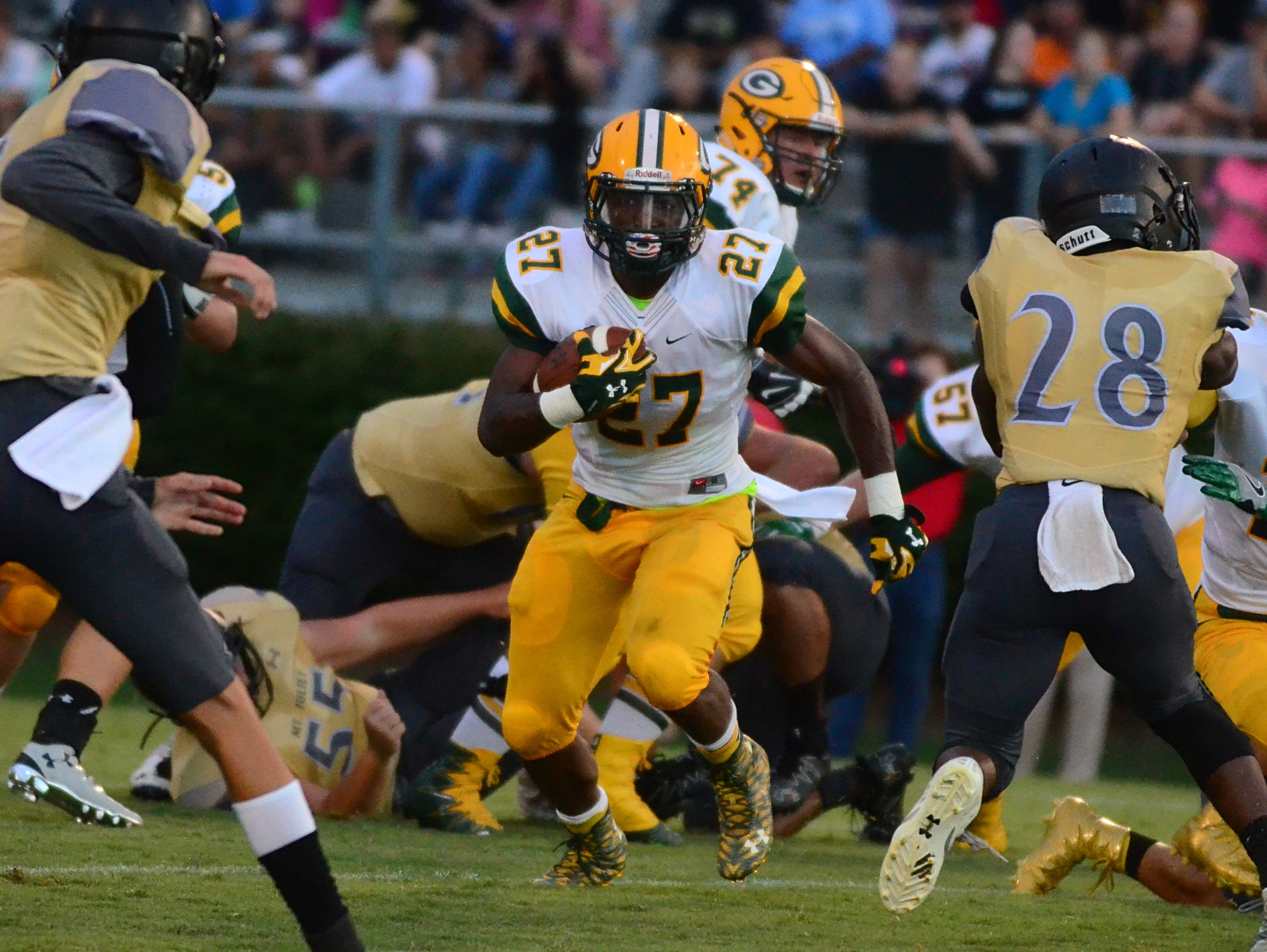 Gallatin senior running back Jordan Mason has 21 rushing touchdowns in eight games, leading the Green Wave to a 6-2 record.