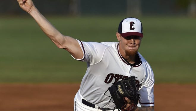 JASON CLARK / COURIER & PRESS Evansville Otters' pitcher Max Duval.