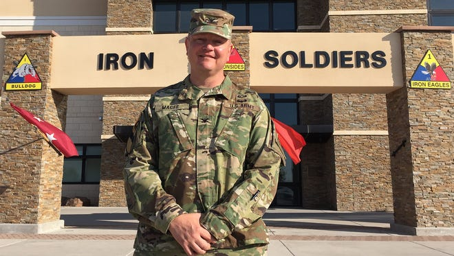 Col. Lee Magee took command of the 3rd Brigade on June 13 and will lead the Bulldogs on their deployment to Kuwait.