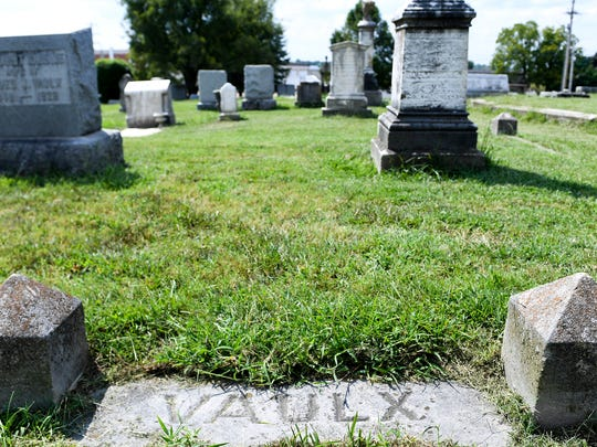 The Vaulx family plot at Riverside Cemetery is resting