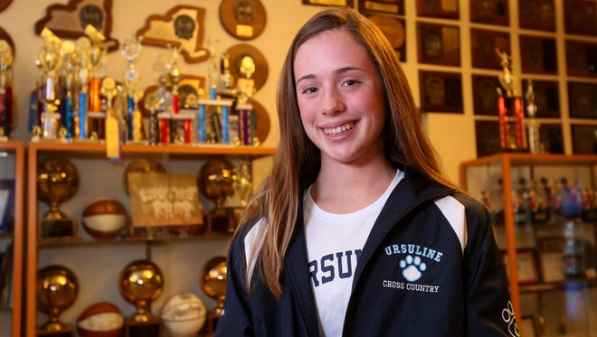 Sophomore Sarah Flynn, 15, the Westchester/Putnam cross country runner of the year, at Ursuline School in New Rochelle, Nov. 30, 2016.