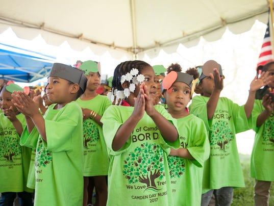 Arbor Day celebration in Camden