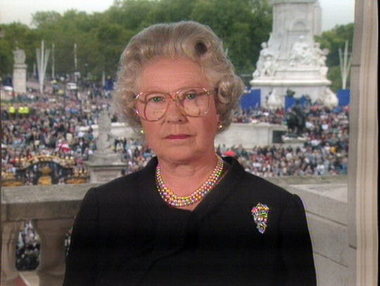 In this image taken from video, Britain's Queen Elizabeth
