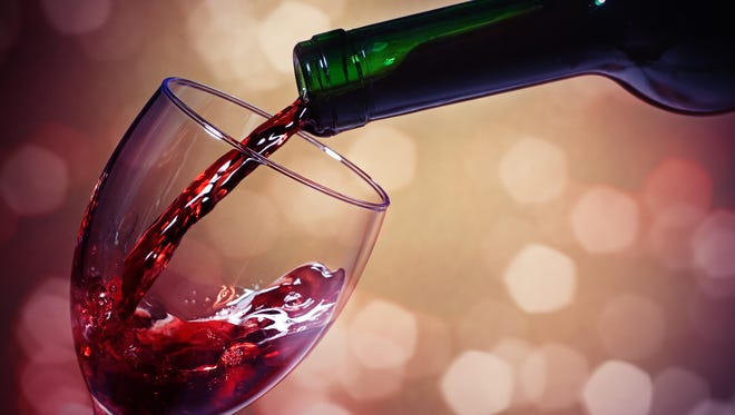 A burgundy wine.
