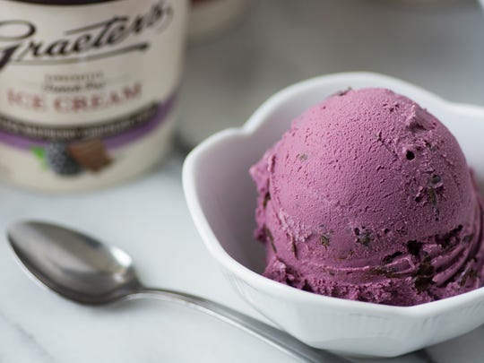 Graeter's Ice Cream Black Rasberry Chocolate Chip.
