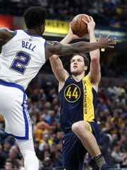 Bojan Bogdanovic led the Pacers with 28 points Thursday.