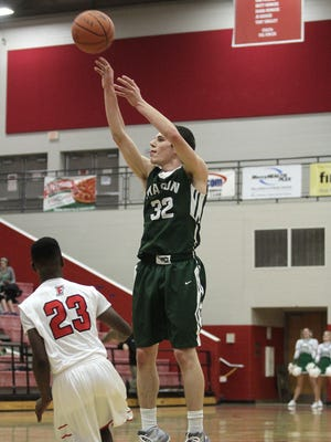 Mason's Michael Beebe takes a jump shot during Mason's 60-49 win over Fairfield in a battle of unbeaten Greater Miami Conference teams Tuesday.