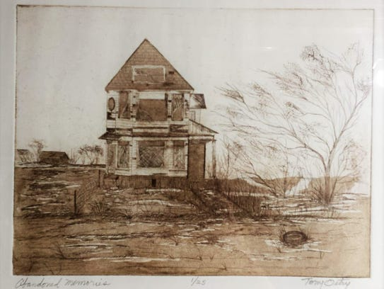 """""""Abandoned Memories"""" is one of the etchings that can"""