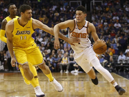 84683bdee4b64 Devin Booker vs. the Lakers  Suns guard said beef was with Lakers coach