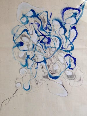 Artwork by Rowan Willigan is on view at the Starr Library in Rhinebeck.