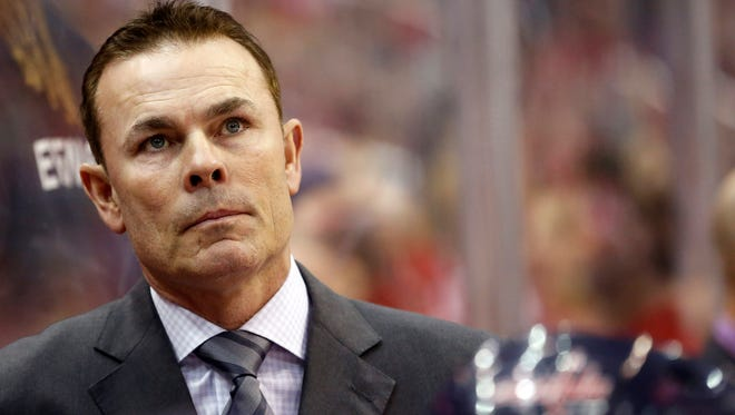 Is Washington Capitals coach Adam Oates in trouble because of the team's non-playoff showing?