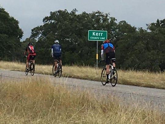 Don Hemmenway, Matt Kerr and John Fahnestock cycle