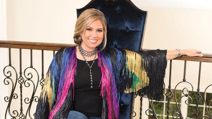 Beatrice Matiash wearing Tashka by Beatrice jewelry;