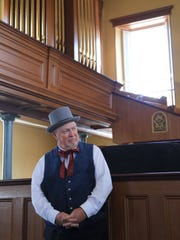 Lee Russell plays Erastus Snow on Saturday morning during the Historic St. George Live tour at the St. George Tabernacle.