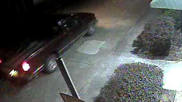 Police are searching for this vehicle in an arson investigation.