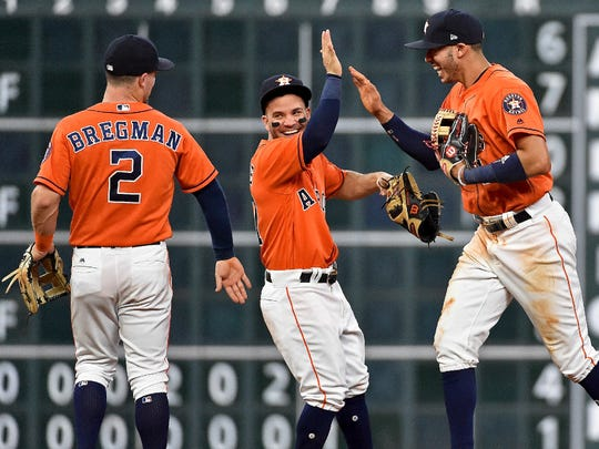 The Astros have plenty of reasons to smile as they already hold a nine-game lead in the AL West.