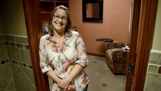 Heidi Hansen works at POET and uses a space there designated for mothers who nurse and/or pump breast milk.