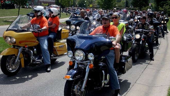 More than 600 motorcyclists and riders are expected to take part in  Saturday's Hero's Ride that honors those who have lost their lives while  defending the United States. Last year's riders formed a mile-long  procession.