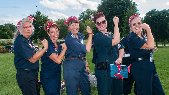 The Can-Do spirit of the Rosie the Riveter tributes on display for all to see.