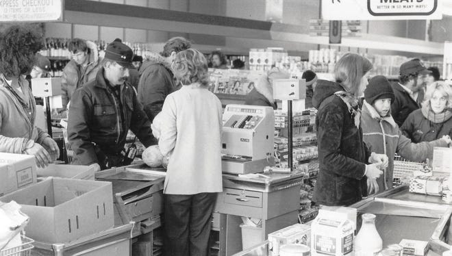 A grocery store in Marion during the blizzard of 1978.