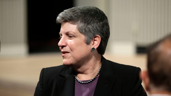 Former secretary of Homeland Security Janet Napolitano.