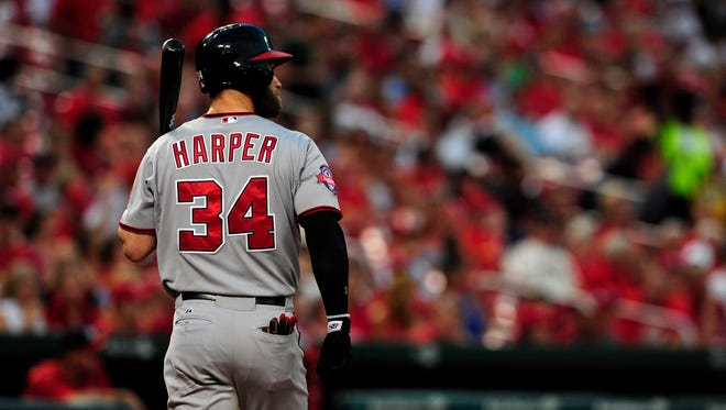 """""""I try to keep a pulse, 'How do you like being here? How do you like being a National?' """" general manager Mike Rizzo says of conversations with 2015 NL MVP Bryce Harper."""