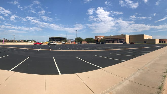 A panoramic picture shows both the new performing arts center and the existing Wylie High School on Antilley Road. The $11.6 million PAC is expected to seat about 1,000 in its main auditorium, plus provide learning spaces for acting, band and orchestra students.