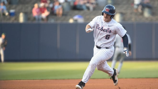 Thomas Dillard hit a two-run home run in Ole Miss' 10-3 win over Arkansas State Wednesday night.
