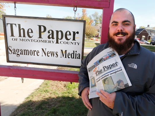 Neil Burk, editor of The Paper of Montgomery County,