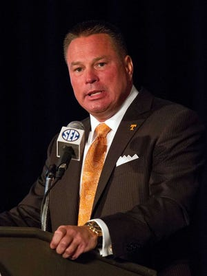 Former UC coach Butch Jones will be back in Cincinnati with his Tennessee team, for a short stay.