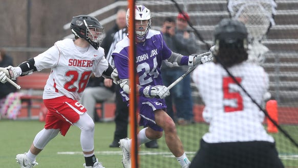 John Jay defeated Somers 15-5 in boys lacrosse action