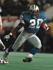 RB Barry Sanders. Then: One of the best running backs