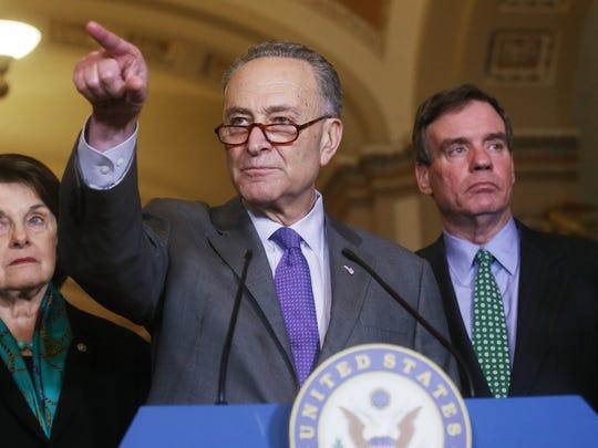 El líder de la minoría en el senado, el demócrata Chuck