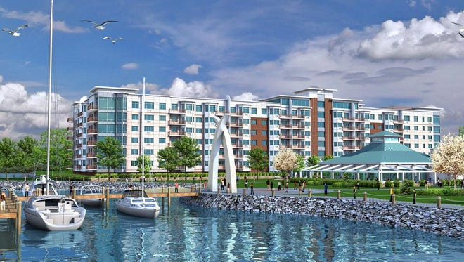 A rendering of the proposed Harbor Square in Ossining