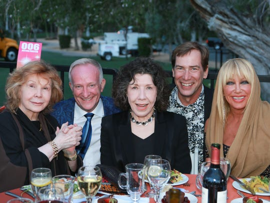 Left to right: Jane Wagner, Mark Anton, Lily Tomlin, Scott Histed, Suzanne Somers.