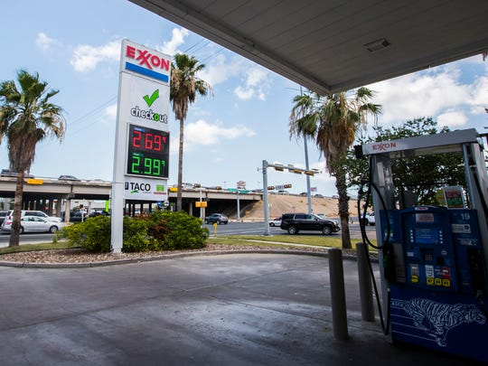 Exxon station on the corner of Weber Street and South Padre Island Drive on Friday, May 25, 2018.