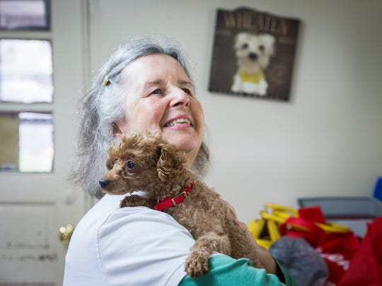 Myra Robinson, who is certified in dog and cat massage and offers the service through her business Tranquil Moments, volunteers at ARF twice per month in the rescue's sanctuary. Robinson said she wanted to be a veterinary technician when she was younger but her progressing visual impairment halted that pursuit.