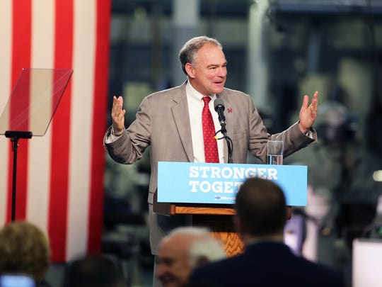 Vice presidential candidate Tim Kaine of Virginia.