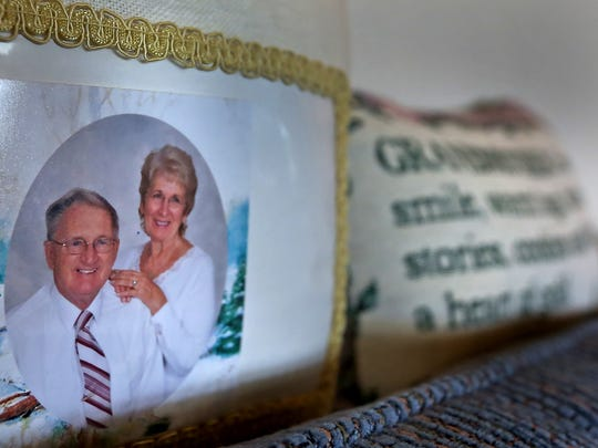 Memorabilia highlights decades of marriage for Loa and Larry Myers, in their home, Friday, Feb. 16, 2018.  Larry Myers died of mesothelioma in 2017.  A current law basically establishes a statute of limitations for people to sue manufacturers, but the nature of asbestos diseases is that they lay dormant and will never present themselves within that timeframe. This issue has been before the Indiana Supreme Court three different times, most recently in 2016, for Larry Myers' case, when the court ruled that asbestos disease victims should be considered outside that statute and should have the right to sue the manufacturers.