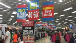The liquidation sale started at the Sports Authority