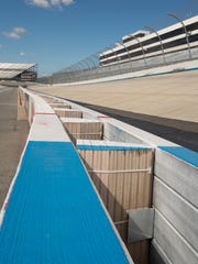 View of the safer barriers at Dover International Speedway in Dover.