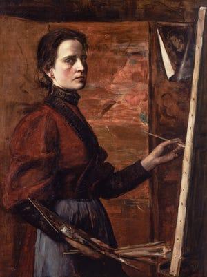 """Elizabeth Nourse's 1892 """"Self-Portrait"""" shows a confident, serious painter at work."""
