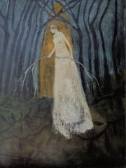 "Jeanie Tomanek, ""Solace,"" acrylic on canvas, 40x30."""